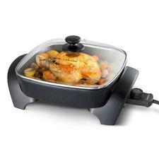 "Kambrook 1800w 12"" Square Electric Frypan/Pot Pan Cooker w/ Lid/Dishwasher Safe"