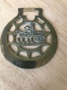 Collectable Vintage Horse Brass Brasses - Horse And Carriage