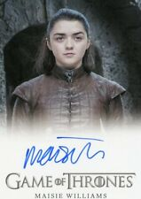 Scarce VHTF Game of Thrones Complete series Autograph card of Maisie Williams as