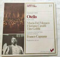 OTELLO GIUSEPPE VERDI LP MARIO DEL MONACO CAVALLI GOBBI VINYL ITALY 1980 NM/NM