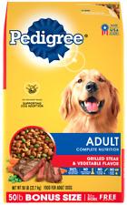 PEDIGREE Complete Nutrition Adult Dry Dog Food Grilled Steak, 50 lb. Bag