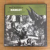 Vintage 1963 William Shakespeare Paul Scofield in Hamlet 4 LP's Records Box Set