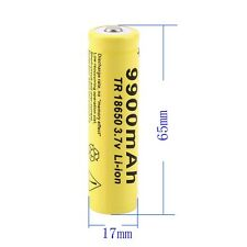 1 X 3.7V 18650 9900mah Li-ion Rechargeable Battery For LED Flashlight Torch CA