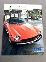 1977 1978 Fiat 124 Sport Spider Pininfarina 1-page Car Brochure Collectors Card