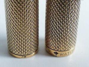 Very rare WATERMAN C/F CF FOUNTAIN PEN VERMEIL in 925 solid silver 18K GOLD NIB