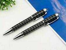 More details for homage pen. ballpoint pen. midnight black white check. crystal tip. uk seller.