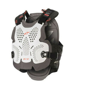 Alpinestars A4 MAX Chest Protector Motrocross Offroad Race Armour White Adults