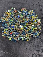 Bag of Vintage Marbles 3lbs 12oz Cats Eye Shooters Glass Agate
