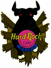 Hard Rock Cafe Madrid 7th Anniversary Pin 2001 Bull w/ Red Rhinestone (P.Ann.*)