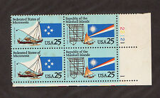 Scott # 2506-2507 Micronesia Marshall Islands U.S. Stamps Mnh - Plate Block of 4