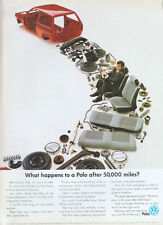 "Volkswagen Polo ""After 50,000 Miles?"" 1989 Magazine Advert #3802"
