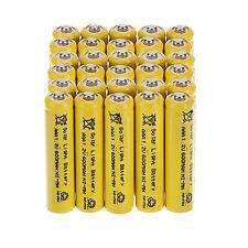 Lot of 30Pcs AAA Solar Light Batteries Rechargeable 1.2V 600mAh NiMH For Lights