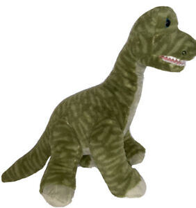 "Build A Bear Green Striped Brachiosaurus Plush Dinosaur 22"" Makes Sounds       Z"