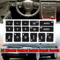 AC Climate Control Button Stickers Kit Decal Dash Repair For Audi A4 B6 B7