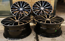 """18"""" 5X108/114.3 GLOSS BLACK POLISHED FACE ALLOY WHEELS FORD C MAX MONDEO FOCUS"""