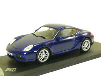 PORSCHE CAYMAN S 2007 BLUE - 1:43 SOLIDO DIECAST MODEL CAR SCALE