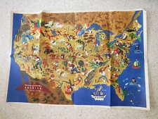 1946.America , its folklore (original map).USA.William Gropper