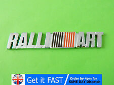Ralliart For Mitsubishi Emblem Badge Metal Silver Stickers Lancer Evo Evolution