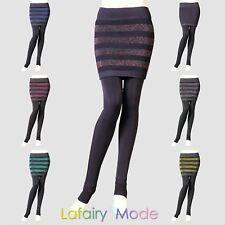 2in1 Legging + Minirock festigt Formleggings Fleece warm Winter Herbst Lafairy