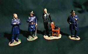 KING & COUNTRY CW052 LINCOLN & HIS GENERALS,  GRANT, SHERMAN & BURNSIDE.