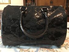 Hello Kitty Loungefly Black Patent Embossed City Tote
