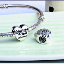 New Authentic European Silver Plated Pandora Pendant Charms Beads Bracelets MOM