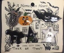 Halloween Clothing Buttons Covers Bat Ghost Witch Black Cat Pumpkin