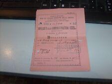 billet 3^ CLASSE - VOIES FERRÉES DELLA SICILE de VIZZINI-LICODIA 6 AVR 1896