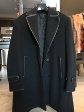 Burberry Pea coat men Cashmere/Wool, Leather Piping Size 56