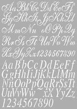 Dutch Doobadoo A4 Template Stencil Mask Vintage Alphabet Numbers Signmaking