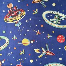 "Cath Kidston Half Yard Cotton Fabric 53""(136cm) Wide Outer Space PF025"