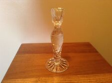 "Made in Hungary elegant cut glass crystal 7 1/2"" candlestick"