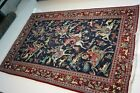 PERSHIAN ART EXHIBITION FINE  ANTIQUE GHOME WOOL HUNTING RUG 80 X 53 INCH