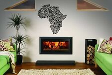Wall Vinyl Sticker Room Decals Mural Design African Map Continent Strips bo1240