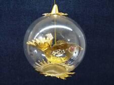 Vintage Resl Lenz Foil & Glass Ornament BEADED BIRD  Foil West Germany (o1188)