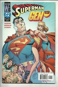 SUPERMAN  GEN 13  N° 1  VARIANT -  DC / WILDSTORM  2000 ( COMICS USA )