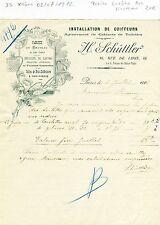 Paris XII ème - Petite Entête Art Nouveau Installation de Coiffeurs - 02/07/1912