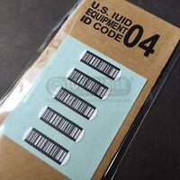 Free Shipping US army IUID equipment ID Code sticker devgru aor1