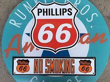 PHILLIPS 66 SHIELD - NO SMOKING  porcelain coated 18 GAUGE steel signs