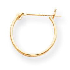 14K Yellow Gold Hollow 13mm Hinged Hoop Earrings Madi K Children's Jewelry