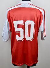 ADIDAS True Vintage Football #50 Shirt Jersey Men's XL Retro Red Fussball Polo
