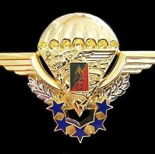 RARE FRENCH FOREIGN LEGION 2REP HALO PARA AIRBORNE PARACHUTE WINGS BADGE No 118