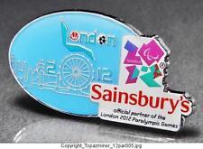 OLYMPIC PINS 2012 LONDON ENGLAND UK SAINSBURY'S SPONSOR PARALYMPIC