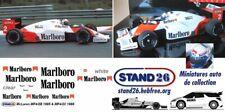 Decals Marlboro McLaren MP4/2B Lauda / Prost 1985 1/43e