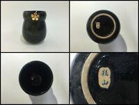 Japanese Pottery Flower Vase Kabin Vintage Ikebana Bonsai Signed Mino Ware Z371