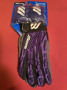 Mizuno Techfire Purple Batting Gloves Adult Sz S Pair Wristbands Included New