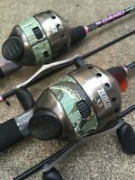 (2) Zebco 33 Lady Camo Pink Rod Reel Combos Limited Edition America's Favorite