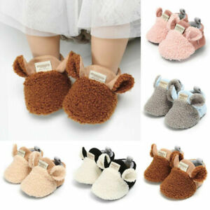 Brand New Toddler Crawling Newborn Baby Shoes Boy Girl Lamb Slippers~