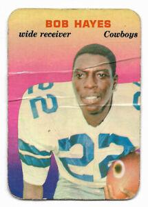 1970 Topps Super Glossy #7 Bob Hayes Football Card - Dallas Cowboys - NFL HOF