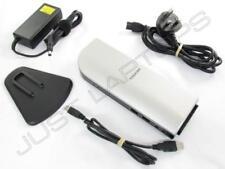 Toshiba USB 2.0 Docking station con / VGA & DVI Inc PSU per Windows XP 7 8 8.1